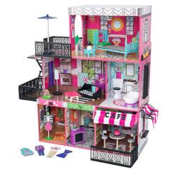 KidKraft Brooklyn's Loft Bēniņu leļļu namiņš (65922)