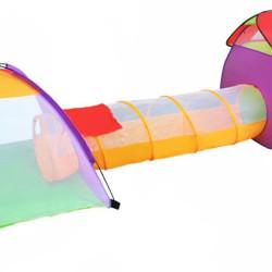 Bērnu rotaļu telts ar tuneli 3in1 (2881)