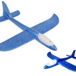 Bērnu LED putuplasta lidmašīna 37cm (10487)