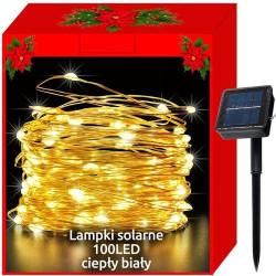 100 LED krāsainu lampiņu virtene ar saules baterijām (11394)