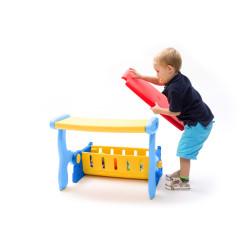 Soliņš bērniem 2in1 (rotaļlietu glabāšanai)