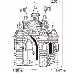 Bērnu rotaļu pils Faber Frozen Palace Pink