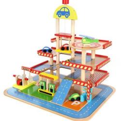 Bērnu koka autostāvvieta / garāža (09351)