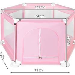 Bērnu manēža 115x65cm Pink (8493)