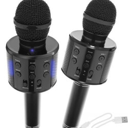 Mikrofons Karaoke Black (8995)