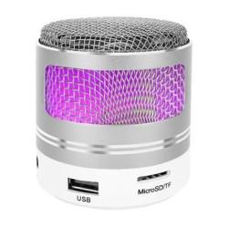 Portatīvais Bluetooth skaļrunis MP3 FM Silver (9099)