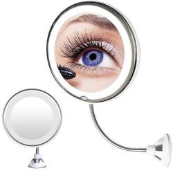 Kosmētikas spogulis 10x LED (9619)
