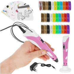 3D Pen + 155m Refills (Pink 9620)