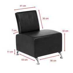 Uzgaidāmais dīvāns Gabbiano 004 Black