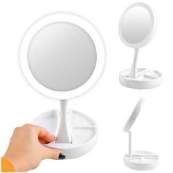 Divpusējs kosmētikas spogulis LED 9618