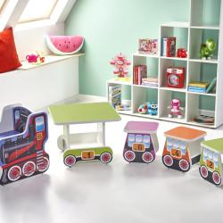 Bērnu galds Halmar Lokomo Pink