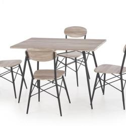 Komplekts Halmar Kabir (Galds + 4 krēsli)