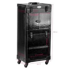 Kosmētikas koferis SA8720 Black