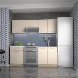 Virtuves komplekts Halmar Marija 200cm Vanilla