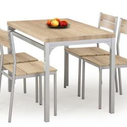 Komplekts Halmar Malcolm Oak (galds + 4 krēsli)