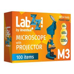 Mikroskops ar Eksperimentālo Komplektu Levenhuk LabZZ M3 Plus 300x-1200x