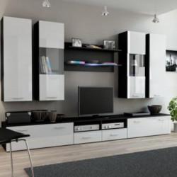 Sekcija Halmar Dream 2 Black Mat/White