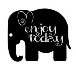 Krīta magneta delis Elephant