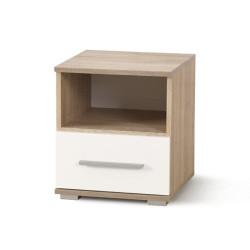 Naktsskapītis Halmar Lima SN1 Oak Sonoma/White