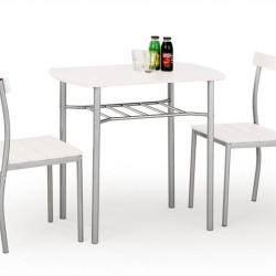 Komplekts Halmar Lance White (Galds + 2 krēsli)