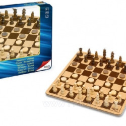 "Galda spēle ""Dambrete - šahs"""