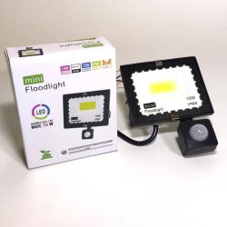 LED prožektors ar kustības sensoru 10W 6500K IP67