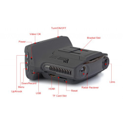 3in1 Radardetektors / Videoreģistrators GPS A7LA50D