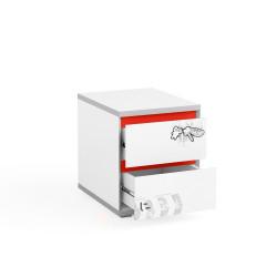 Bērnu Kumode Q-Bix 12 Red