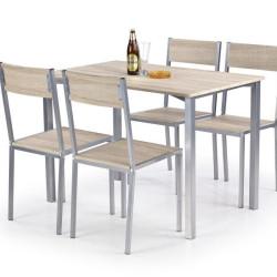 Komplekts Halmar Ralph (Galds + 4 krēsli)