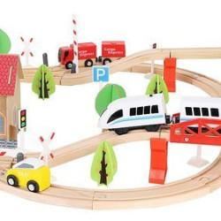 Bērnu koka dzelzceļš 9362