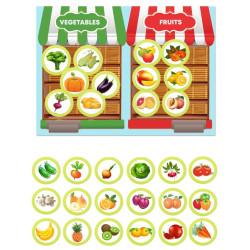(RU) Magnētiskā spēle - Dārzeņi un augļi