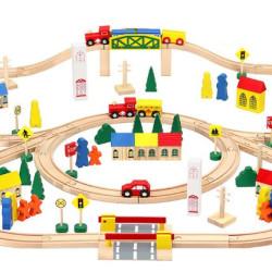 Bērnu koka dzelzceļš 6862