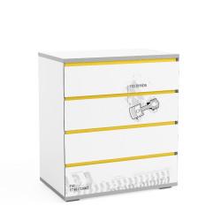 Bērnu kumode Q-bix 14 Yellow