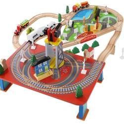 Bērnu koka dzelzceļš 9363