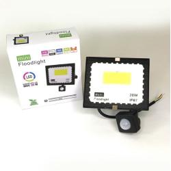 LED prožektors ar kustības sensoru 20W 6500K IP67