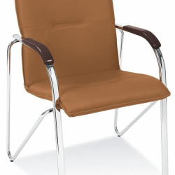 Apmeklētāju krēsls Halmar Samba Brown