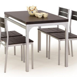 Komplekts Halmar Malcolm Wenge (galds + 4 krēsli)