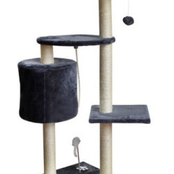 Kaķu māja, stabs nagu asināšanai 110cm Gray