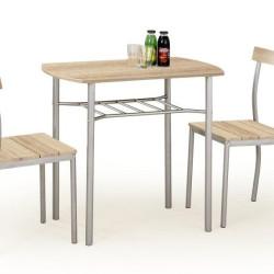 Komplekts Halmar Lance Oak (Galds + 2 krēsli)