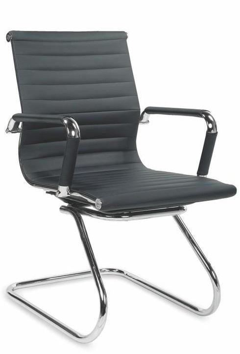 Apmeklētāju krēsls Halmar Prestige Skid Black