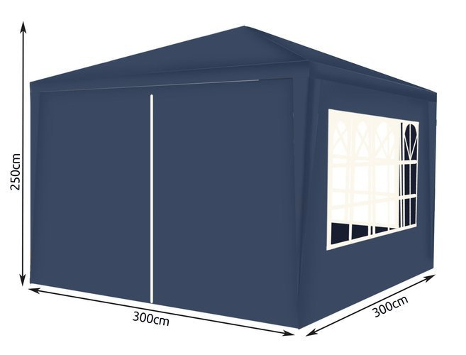Dārza nojume 3x3m Blue (12876) Ir uz vietas!
