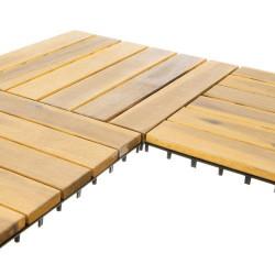 10 matētu koka flīžu komplekts 30x30cm (11967)