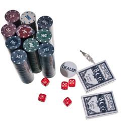 Pokers - 500 žetonu komplekts čemodānā (B10) Ir uz vietas!