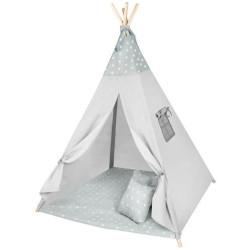 Spēļu telts / vigvams bērniem Grey Stars (8703)