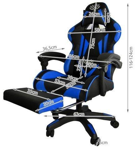 Spēļu datorkrēsls Malatec Blue 8979